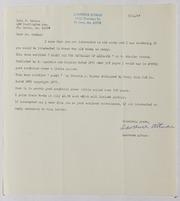 Eric P. Newman Assorted Correspondence and Ephemera File: AK to AL