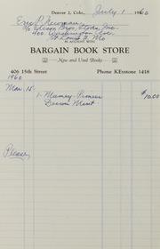 Bar to Bau: Assorted Correspondence and Ephemera File