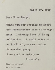 Be to Bel: Assorted Correspondence and Ephemera File