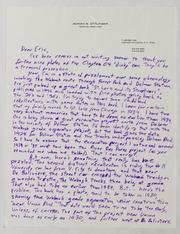 Assorted Correspondence and Ephemera File: Ettlinger to Export