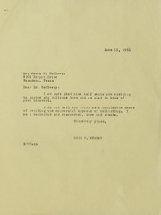 Assorted Correspondence and Ephemera File: MC to ME