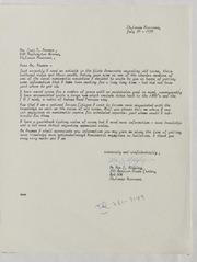Assorted Correspondence and Ephemera File: MI