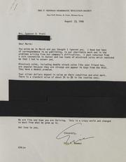 PO-PU Correspondence, 1950-1995