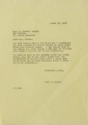 WA - WE Correspondence