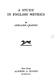 A Study in English Metrics - Adelaide Crapsey - Google Books