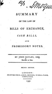 Summary of the law of bills of exchange cash bills and a summary of the law of bills of exchange cash bills and promissory notes altavistaventures Choice Image