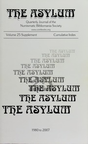The Asylum: Cumulative Index (1980-2007), Volumes 25 Supplement