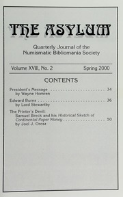 The Asylum, Spring 2000