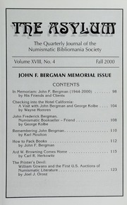 The Asylum, Fall 2000