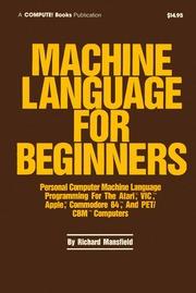 Machine language for beginners : machine language