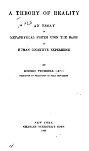 appearance and reality a metaphysical essay Similar items appearance and reality: a metaphysical essay, by: bradley, f h (francis herbert), 1846-1924 published: (1906) appearance and.