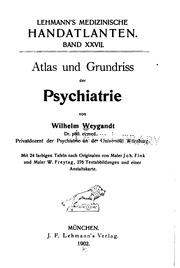 Atlas und Grundriss der Psychiatrie