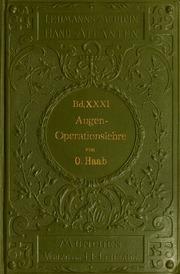 Atlas und Grundriss der Lehre von den Augenoperationen