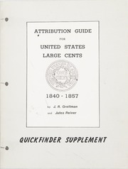 Attribution Guide for United States Large Cents 1840-1857, Quickfinder Supplement