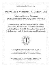 Auction Sale 124: Important Numismatic Literature (pg. 34)