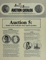 Auction 5: Medals of the World Plus Many Topical Specialties