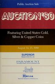 Auction '80: Featuring United States Gold, Silver & Copper Coins