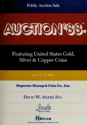 Auction '88: Featuring United States Gold, Silver & Copper Coins
