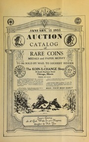Auction catalog of rare coins, medals and paper money, to be sold by mail to the highest bidder ... [01/15/1935]