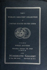 Auction catalogue no. 29 : world's greatest collection of United States silver dollars ... [01/20/1945]
