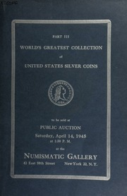 Auction catalogue no. 31 : world's greatest collection of United States half dollars ... [04/14/1945]