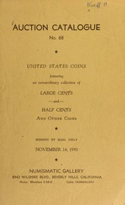 Auction catalogue no. 68 : United States coins ... [11/14/1950]