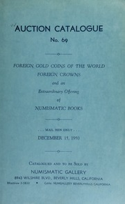 Auction catalogue no. 69 : foreign gold coins of the world ... [12/15/1950]