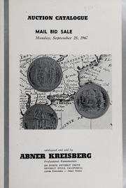 Auction Catalogue: Mail Bid Sale