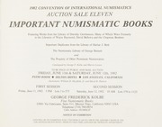 Auction Sale Eleven: Important Numismatic Books