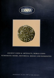 Auction of ancient coins & artefacts, world coins, numismatic books, historical medals, and banknotes ... [07/16/1997]