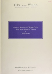 Auction of ancient, British and world coins, historical medals, tokens & banknotes ... [03/27/1996]
