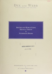 Auction of British and world coins, historical medals, tokens, and numismatic books ... [01/31/1996]