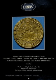 An auction of important British and world coins, ancient coins, trade tokens, historical and art medals, numismatic books, British and world banknotes, including the Herman Selig collection (part III), ... the Beeton cabinet of British and world coins ... [06/24-25/2003]
