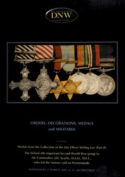 An auction of orders, decorations, medals and militaria, including medals from the collection of the late Oliver Stirling Lee (part II) ... [03/02/2005] (pg. 95)