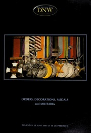 An auction of orders, decorations, medals and militaria. [06/23/2005]