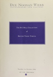 An auction of the RC Bell collection of British trade tokens ... [10/01/1996]