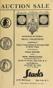 Auction sale : choice U.S., foreign and ancient coins ... [08/26/1939]