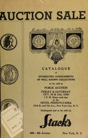 Auction sale : in two sessions : of interesting consignments of well known collectors ... [10/30/1936-10/31/1936]