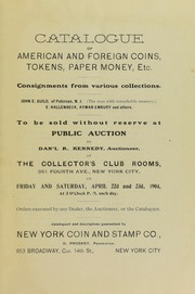 Auction Sale of Coins, Currency, Etc. of Guils, Embury, and  Hallenback.