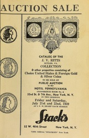 Auction sale of the J. V. Ritts ... collection and other properties ... [07/21-22/1939]