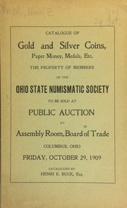 Auction sale of old coins ... : including a stella, California slug ... [10/29/1909]