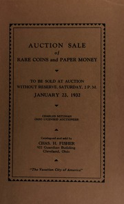 Auction sale of rare coins and paper money. [01/23/1932]