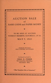 Auction sale of rare coins and paper money. [05/07/1932]