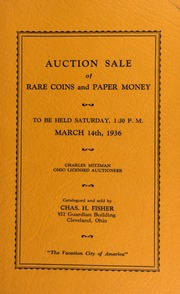 Auction sale of rare coins and paper money. [03/14/1936]