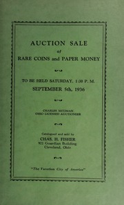 Auction sale of rare coins and paper money. [09/05/1936]