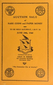 Auction sale of rare coins and paper money. [06/29/1940]