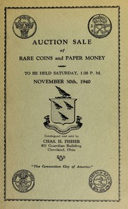 Auction sale of rare coins and paper money. [11/30/1940]
