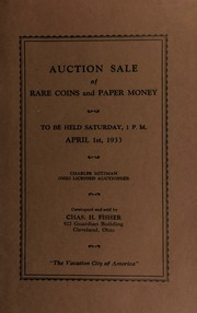 Auction sale of rare coins and paper money. [04/01/1933]