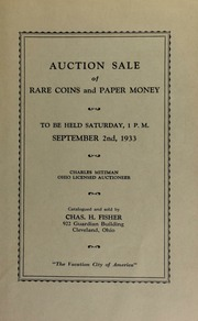 Auction sale of rare coins and paper money. [09/02/1933]
