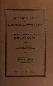 Auction sale of rare coins and paper money. [02/17/1934]
